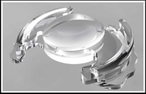 Lentes acomodativas que se implantan en sustitución del cristalino.